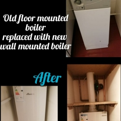 old-floor-mounted-boiler-new-wall-mounted-boiler