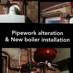 pipework-alteration-new-boiler-installation
